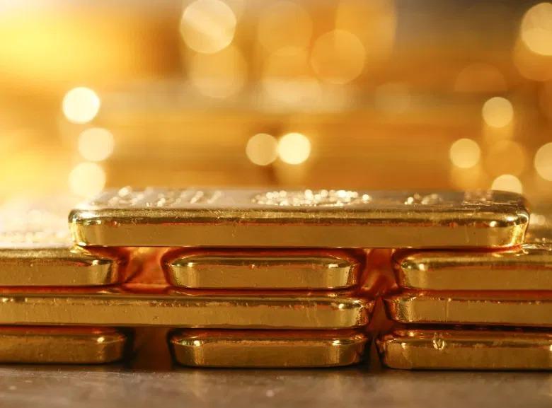 Vàng thỏi được xếp trong một kho chứa tại Đức. Ảnh: Reuters