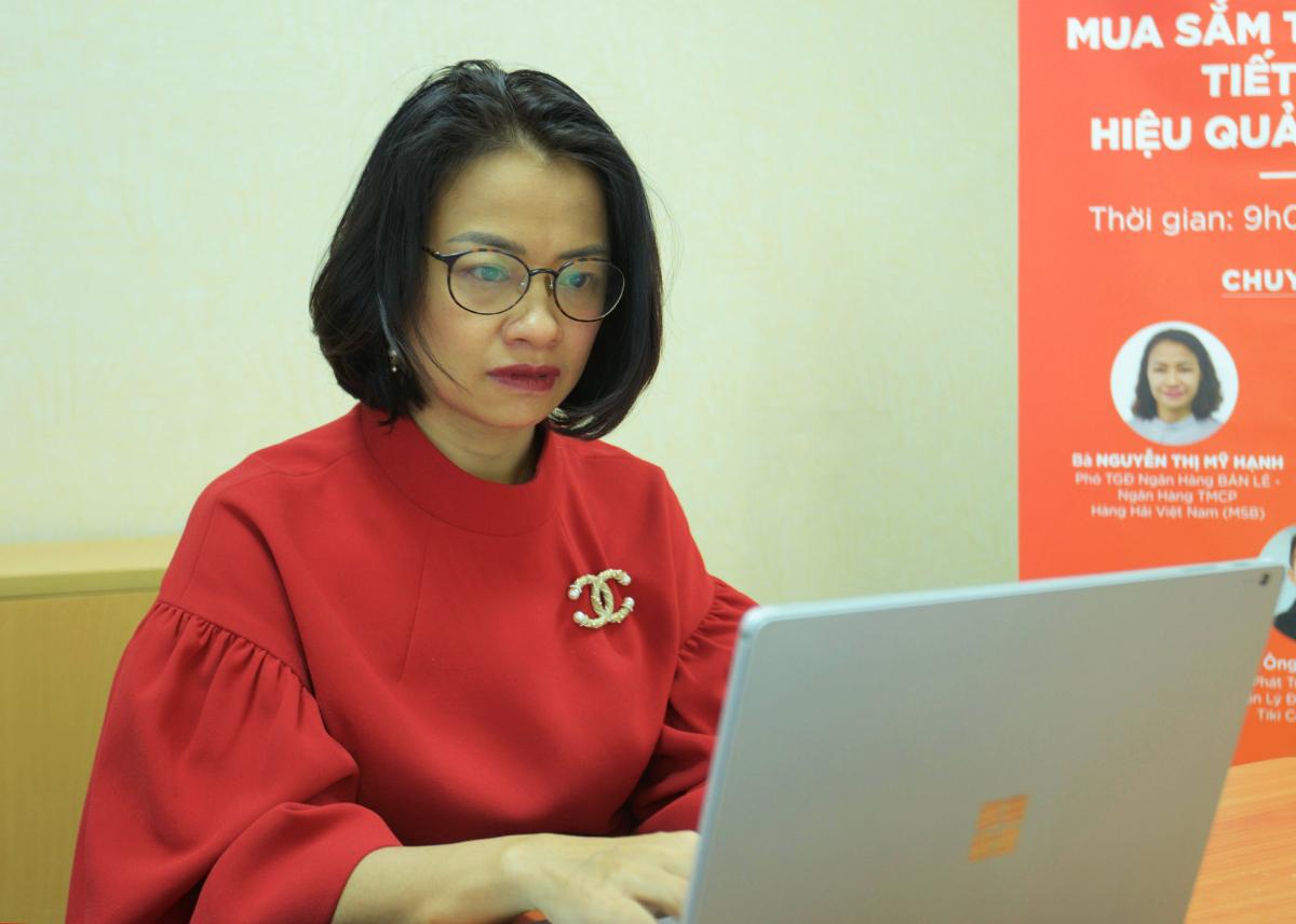 Bà Nguyễn Thị Mỹ Hạnh - Phó tổng giám đốc Ngân hàng Bán lẻ - Ngân hàng TMCP Hàng Hải Việt Nam (MSB).