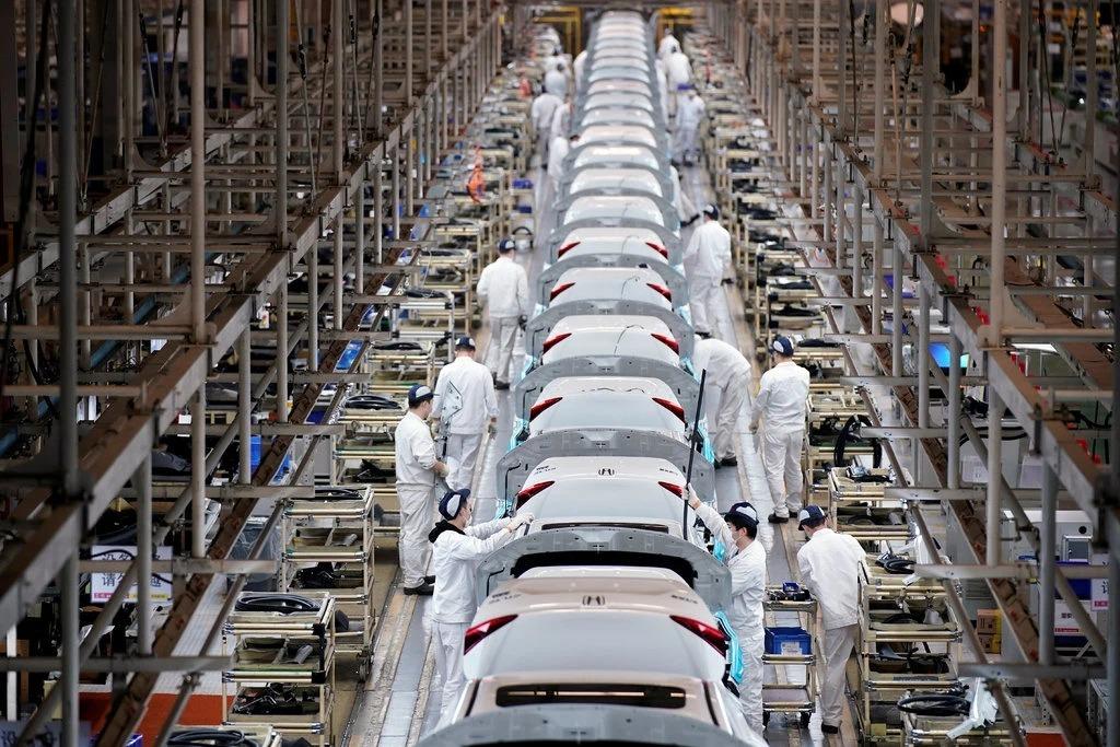 Nhà máyDongfeng Honda tại Vũ Hán, Trung Quốc. Ảnh: Reuters