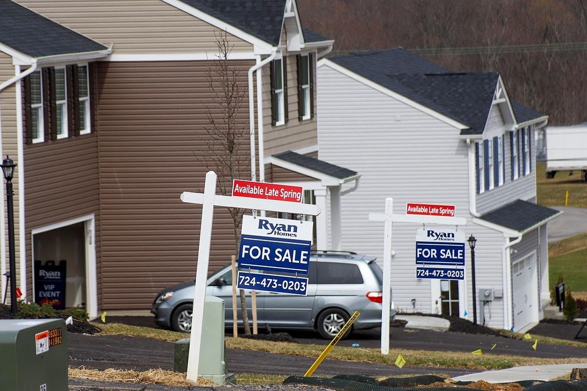 Nhà được rao bán tạiZelienople,Pennsylvania, Mỹ vào ngày 18/3. Ảnh: AP