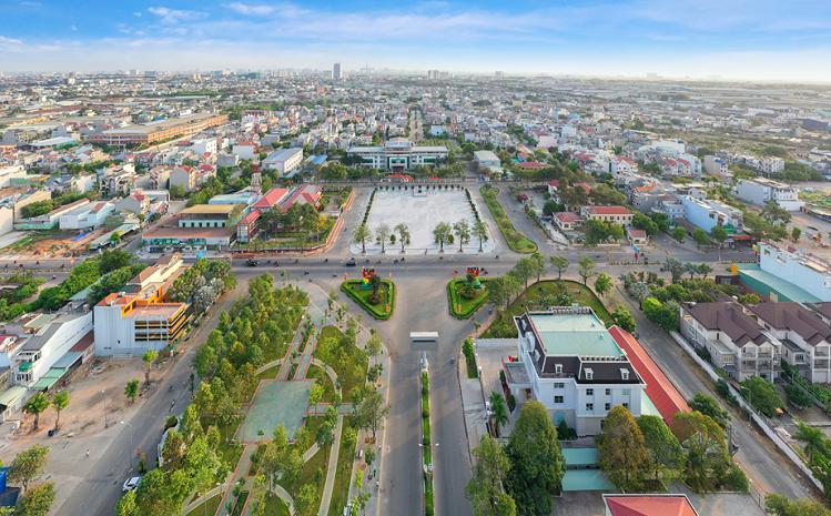 Thành phố Dĩ An được đầu tư hạ tầng đô thị hiện đại với quy hoạch bài bản, động lực tăng trưởng bất động sản tại địa phương.
