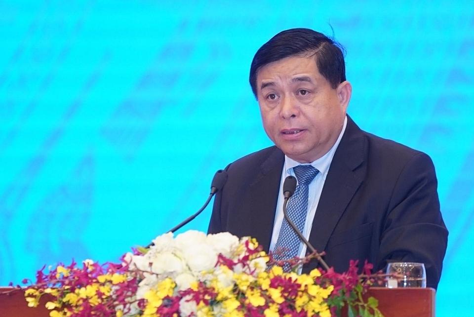Bộ trưởng Kế hoạch & Đầu tư Nguyễn Chí Dũng trong Hội nghị sáng 9/5. Ảnh: Quang Hiếu.