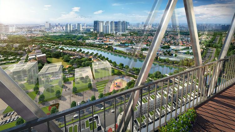 Cầu kính tầng 33 dự án The Terra - An Hưng.