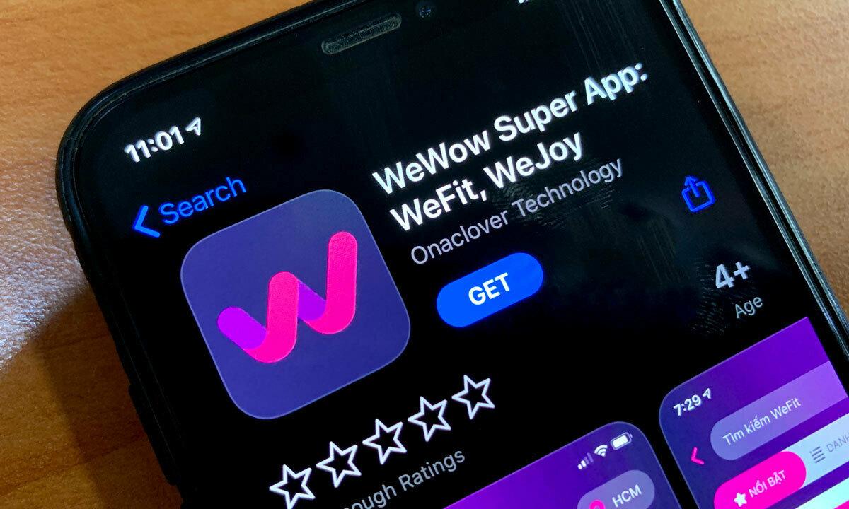 Ứng dụng kết nối người dùng và phòng tập, spa WeFit ( sau được đổi tên thành WeWow). Ảnh: Đạt Nguyễn.