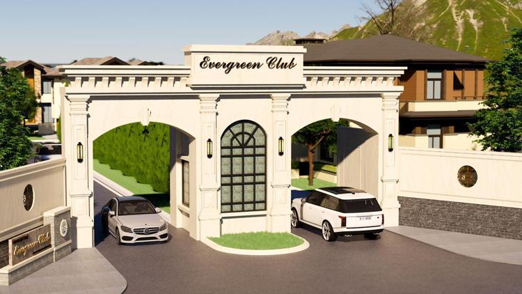 Cổng vào dự án Evergreen Club.