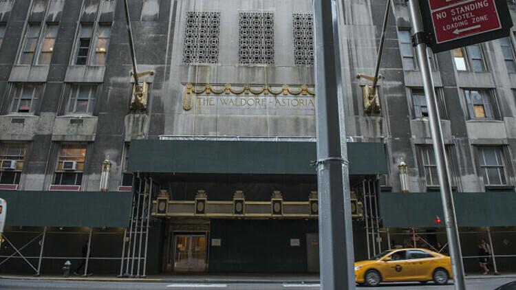 Khách sạnWaldorf-Astoria Hotel được hãng bảo hiểm Anbang (Trung Quốc) mua năm 2014. Ảnh: FT