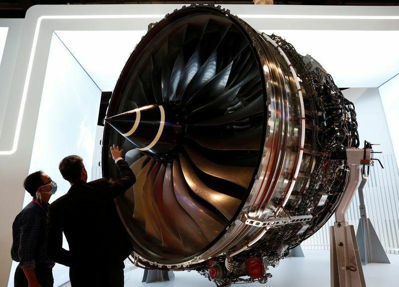Động cơ của Rolls-Royce triển lãm tại Singapore Airshow hồi tháng 2. Ảnh: Reuters