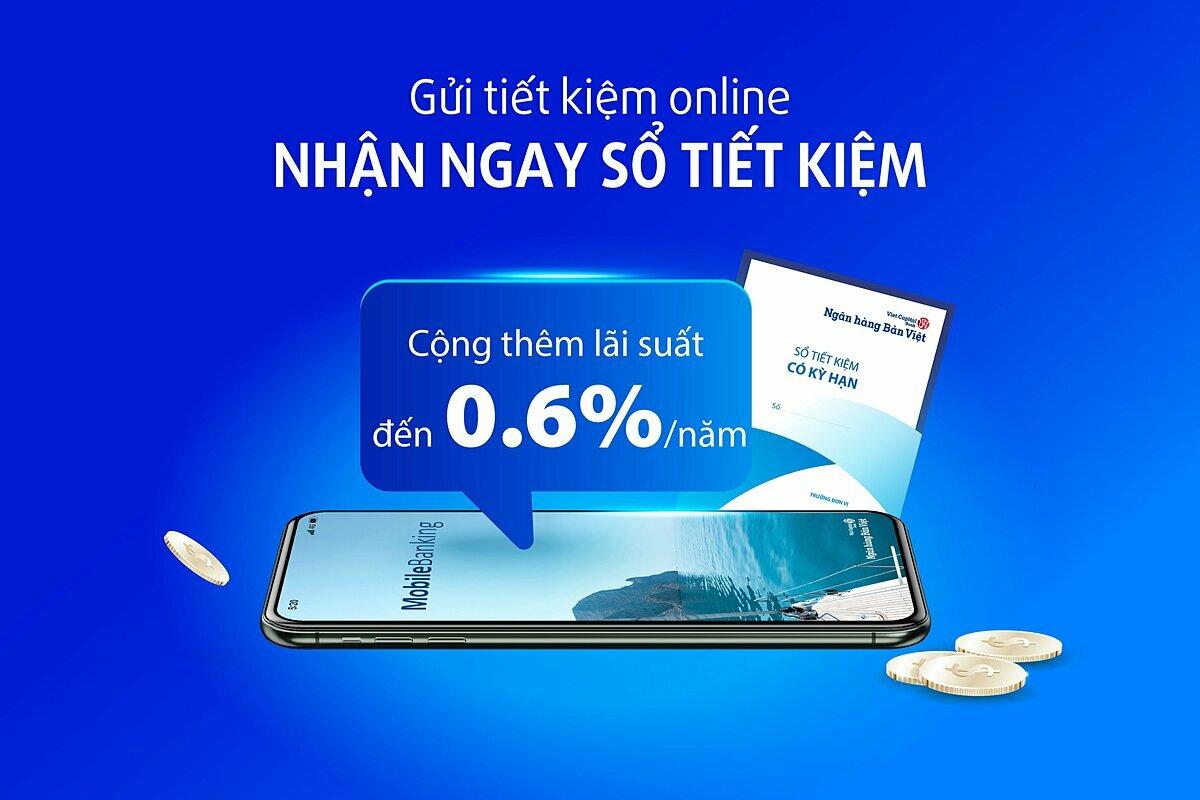 Khách hàng dễ dàng thực hiện gửi tiền tiết kiệm, tất toán, tái tục, kiểm tra tiền lãi... qua ứng dụng trên điện thoại. Hotline:1900555596.