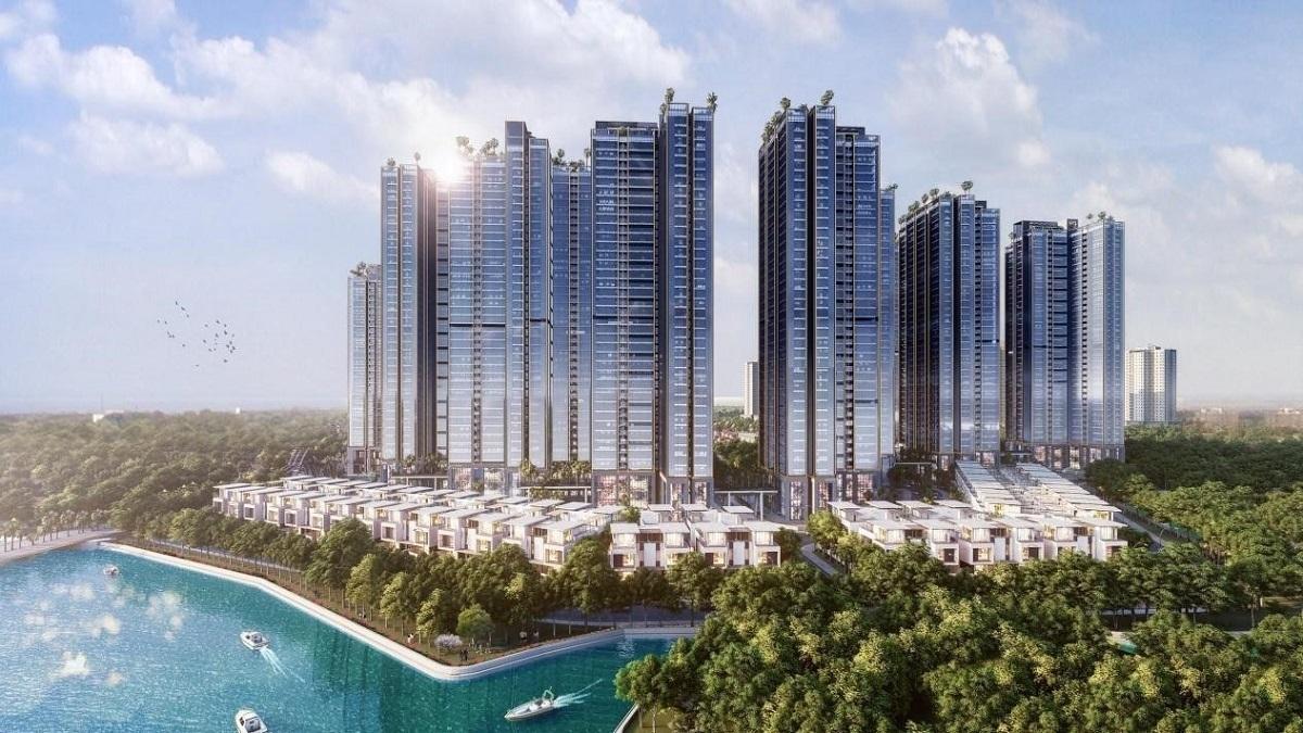 Phối cảnh tổng thể dự án Sunshine City Sài Gòn tại trung tâm quận 7.