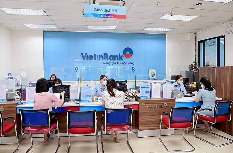 Một phòng giao dịch của ViettinBank.