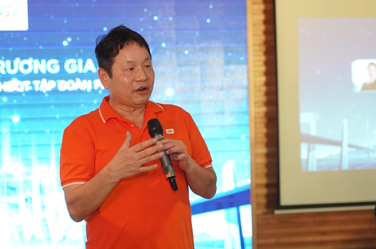 Chủ tịch FPT Trương Gia Bình phát biểu tại sự kiện.