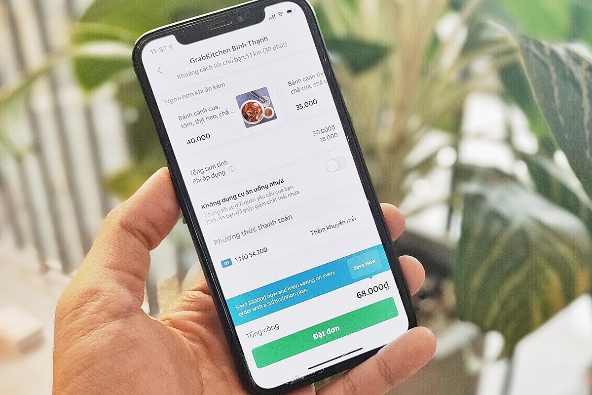 Người dùng có thể dùng Moca thanh toán cho các hoạt động thường ngày như di chuyển, gọi món trên ứng dụng Grab.