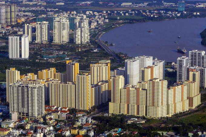 Các dự án căn hộ tại quận 2, TP HCM. Ảnh:Quỳnh Trần