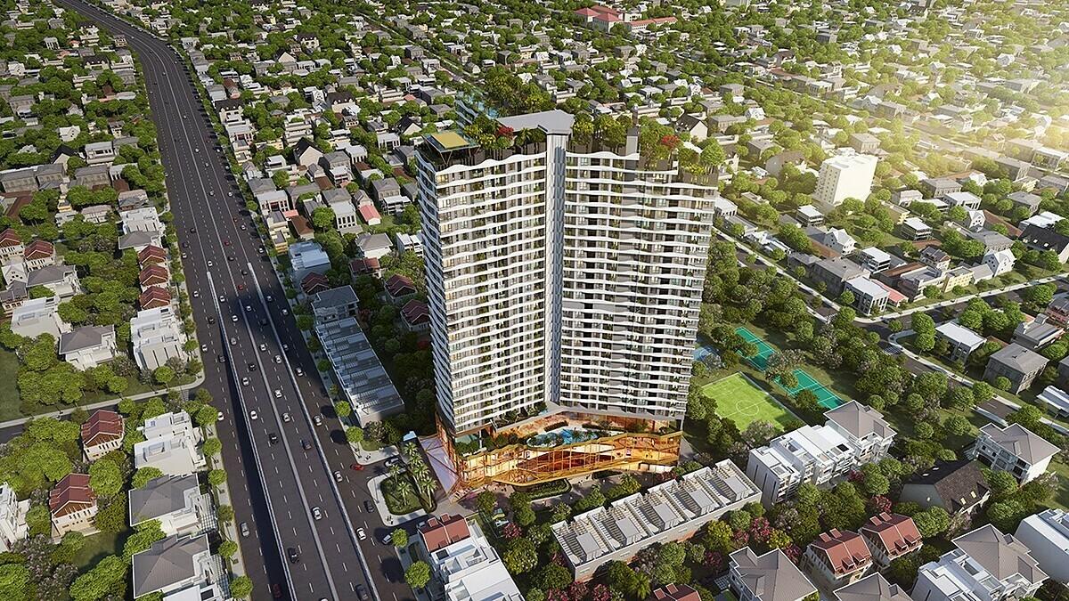 Phối cảnh dự án D-Homme đang được triển khai trên đường Hồng Bàng, quận 6, TP HCM.