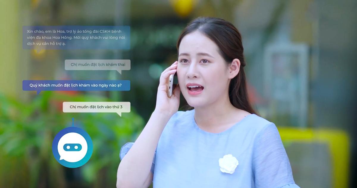 Trợ lý ảo tổng đài tự động tương tác 2 chiều 24/7 cùng khách hàng với ngữ điệu tự nhiên và thông tin chính xác.