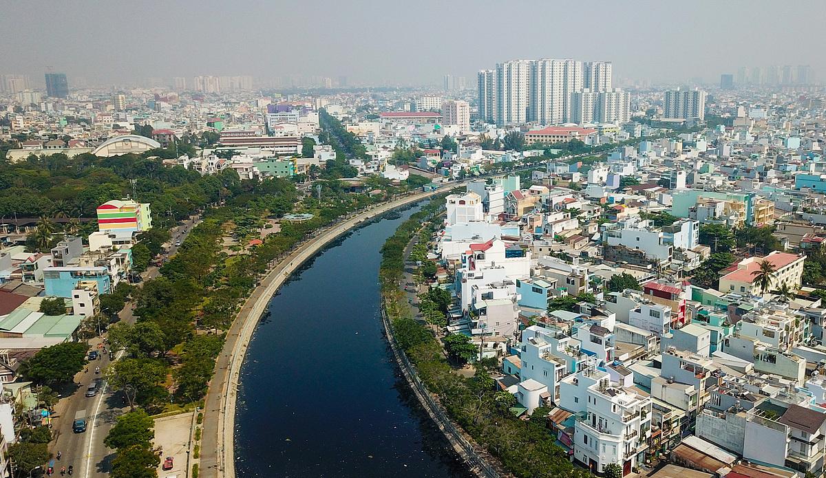 Bất động sản khu Tây TP HCM, khu vực quận 6 và quận Bình Tân. Ảnh: Quỳnh Trần.