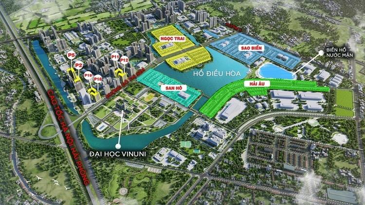 Bản đồ phối cảnh vị trí dự án Vinhomes Ocean Park. Ảnh: Vingroup.