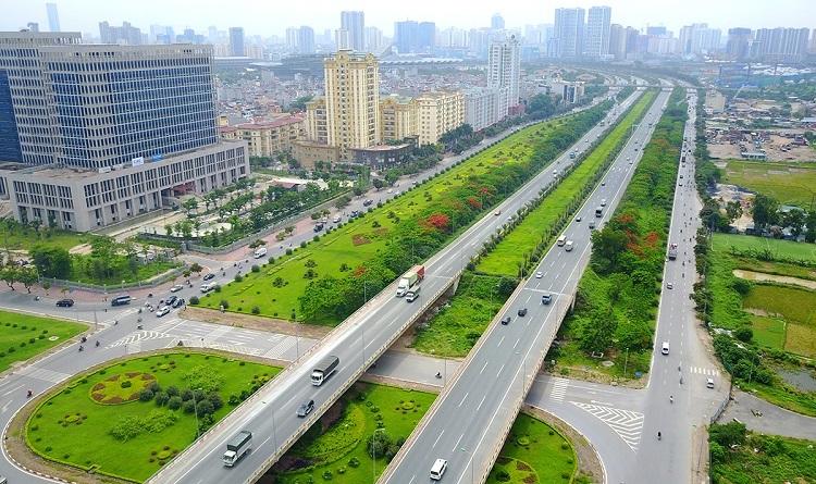 Đại lộ Thăng Long dài 29km, một trong những công trình lớn tại Tây Hà Nội. Ảnh: Bá Đô.