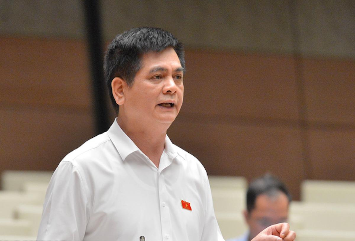 Ông Nguyễn Lâm Thành (Lạng Sơn) góp ý kiến tại phiên thảo luận về dự thảo luật PPP ngày 28/5. Ảnh: Trung tâm báo chí Quốc hội
