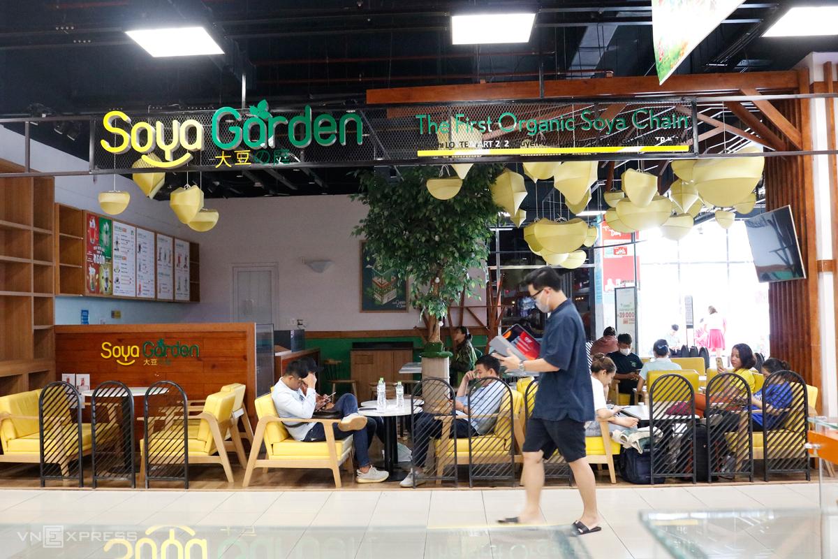 Một cửa hàng của Soya Garden trưa 30/5 tại Lotte Gò Vấp (TP HCM). Ảnh: Nguyệt Nhi.