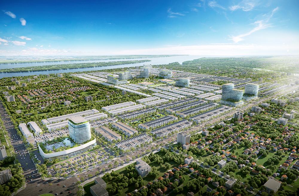Phối cảnh tổng thể dự án Stella Mega City.