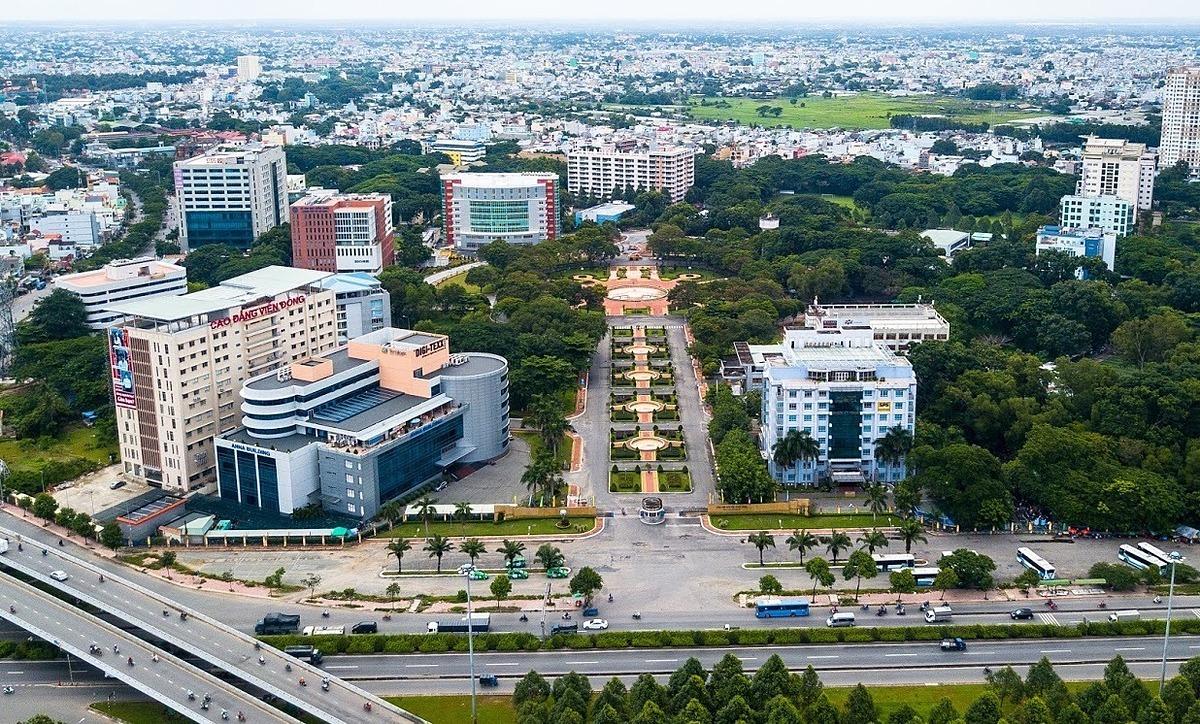 Một góc Công viên phần mềm Quang Trung tại TP HCM. Ảnh: QTSC.