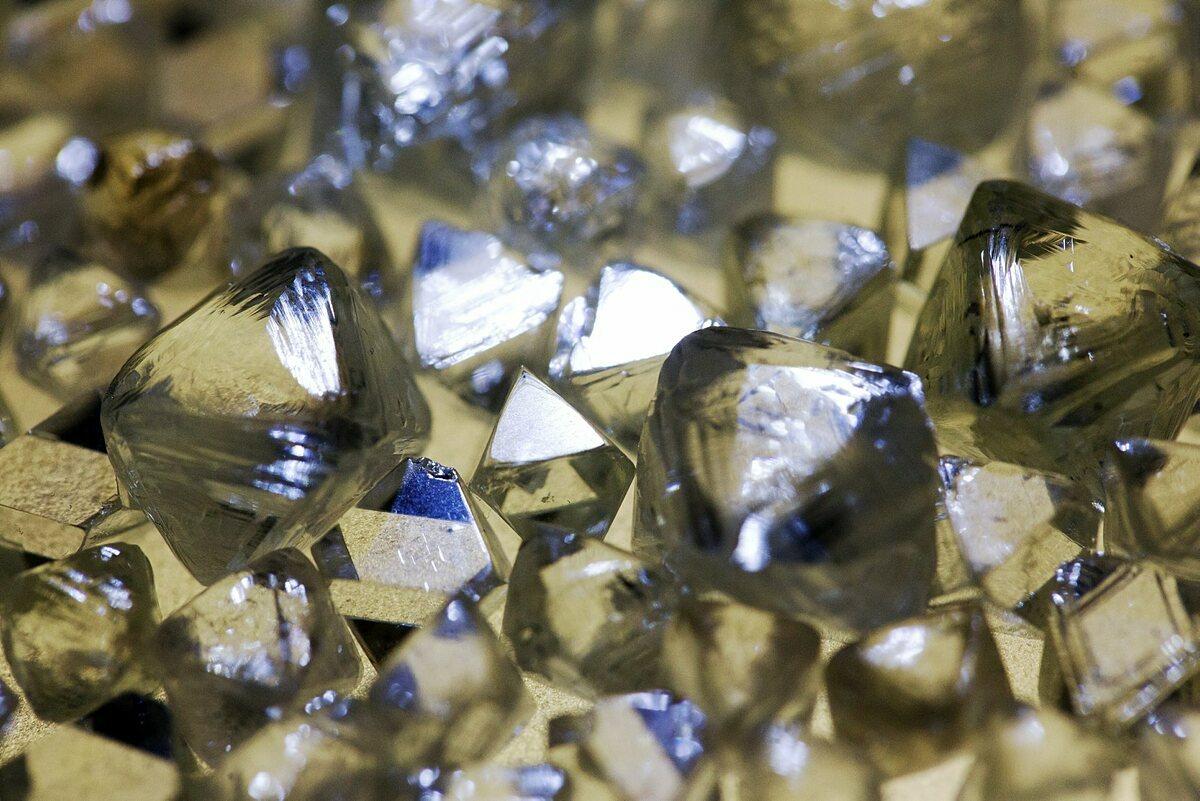 Kim cương thô chuẩn bị được phân loại tại một văn phòng của Alrosa (Nga). Ảnh: Bloomberg
