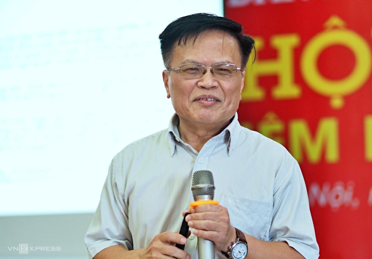 Ông Nguyễn Đình Cung, nguyên Viện trưởng CIEM tại sự kiện ngày 9/6. Ảnh: Minh Sơn.