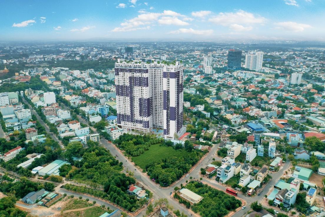 Một góc thành phố Thủ Dầu Một nhìn từ trên cao.
