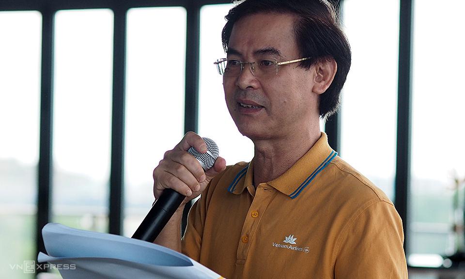 Ông Trần Thanh Hiền phát biểu tại sự kiện chiều 12/6. Ảnh: Anh Tú