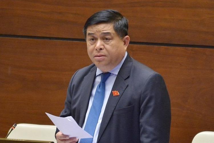 Bộ trưởng Kế hoạch & Đầu tư Nguyễn Chí Dũng. Ảnh: Trung tâm báo chí Quốc hội
