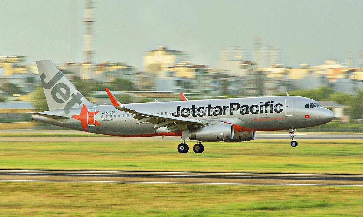 Một máy bay Airbus A320 của Jetstar Pacific. Ảnh: VNA