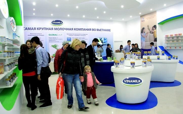 Từ năm 2015, Vinamilk đã tiến hành các hoạt động giới thiệu sản phẩm, xúc tiến thương mại tại Nga.