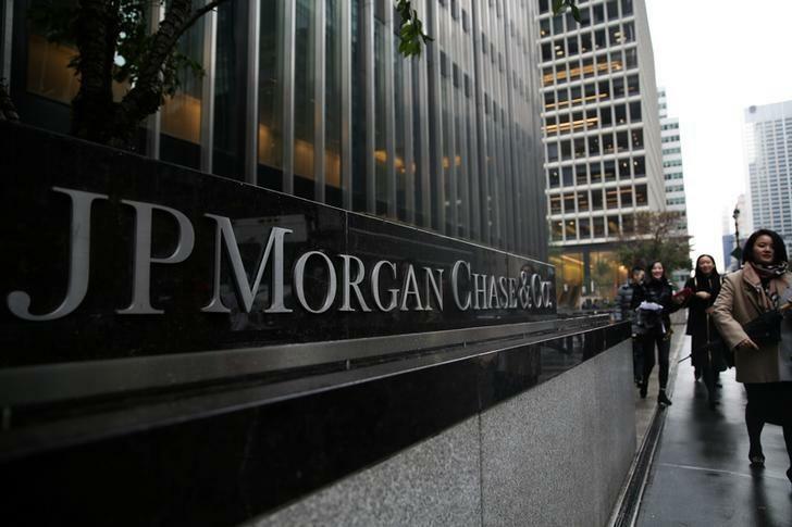 Bên ngoài trụ sở củaJP Morgan Chase tại New York (Mỹ), Ảnh: Reuters