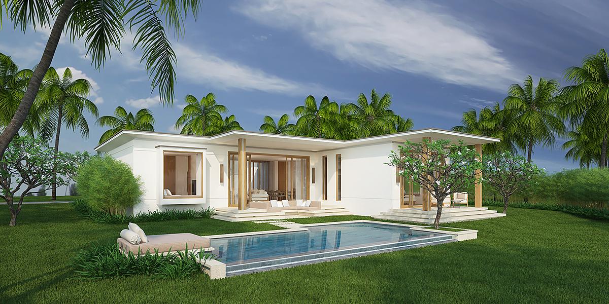 Biệt thự ba phòng ngủ có hồ bơi tại Maia Resort Quy Nhơn.