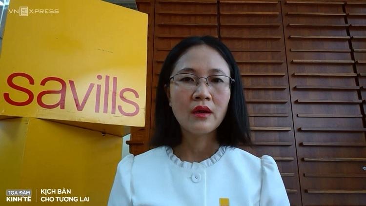 Bà Đỗ Thị Thu Hằng,Giám đốc Bộ phận Nghiên cứu và Tư vấn Savills Hà Nội
