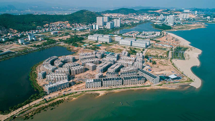 Một dự án tại Quảng Ninh do Công ty Hòa Bình thi công xây dựng. Ảnh: Hoabinhgroup