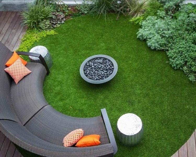 Một công trình tại... dùng cỏ nhân tạo do TNG thi công.
