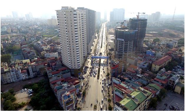 Một số khu vực tại thành phố Hà Nội có tốc độ tăng giá đất nhanh. Ảnh:Giang Huy.