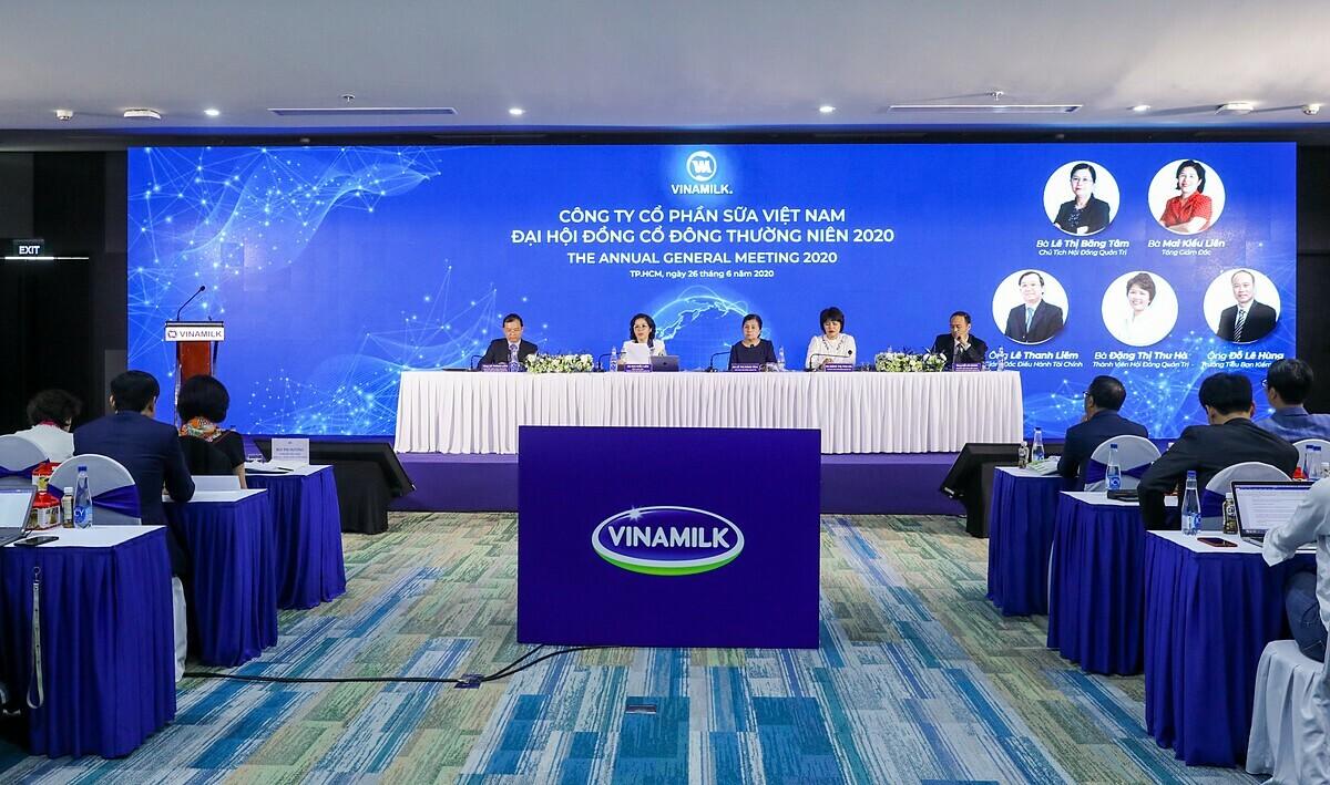 Đại hội cổ đông thường niên năm Vinamilk 2020 diễn ra theo hình thức trực tuyến vào sáng 26/6 tại TP HCM.