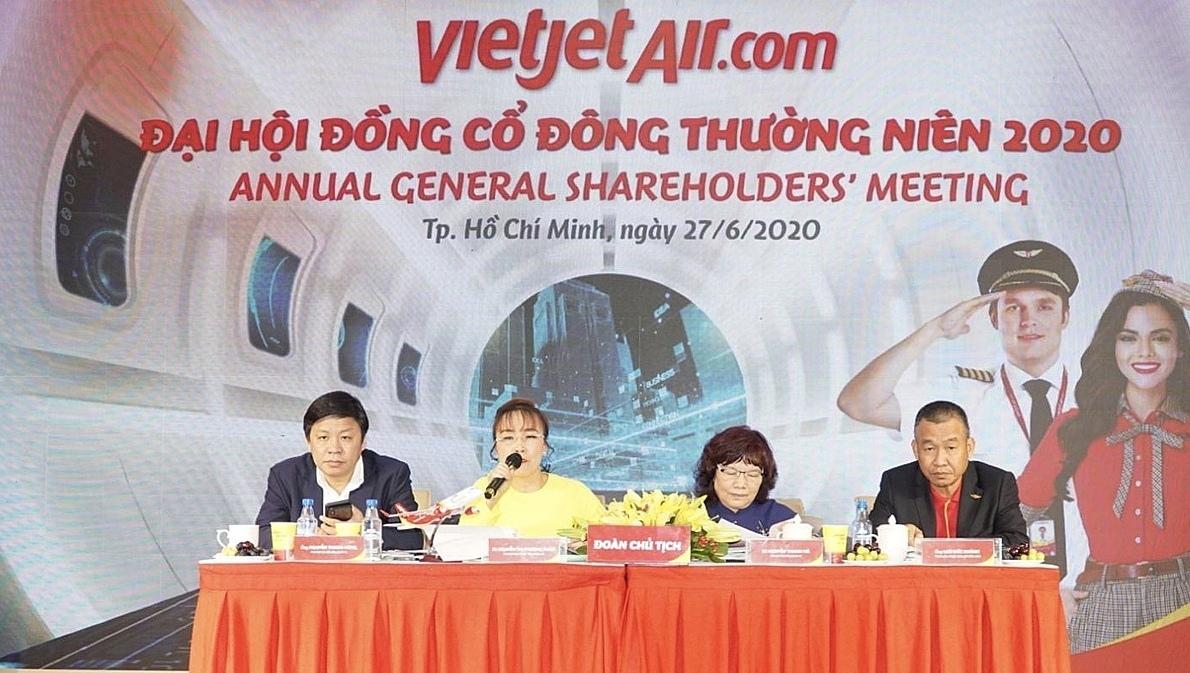 Vietjet tổ chức đại hội cổ đông hôm 27/6, tổng kết tình hình sản xuất kinh doanh năm 2019, biểu quyết thông qua báo cáo kiểm toán 2019 và kế hoạch phát triển trong năm 2020.