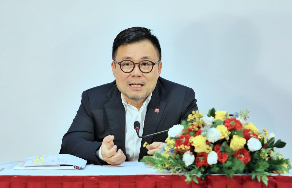 Ông Nguyễn Duy Hưng tại phiên họp chiều 27/6. Ảnh: SSI.