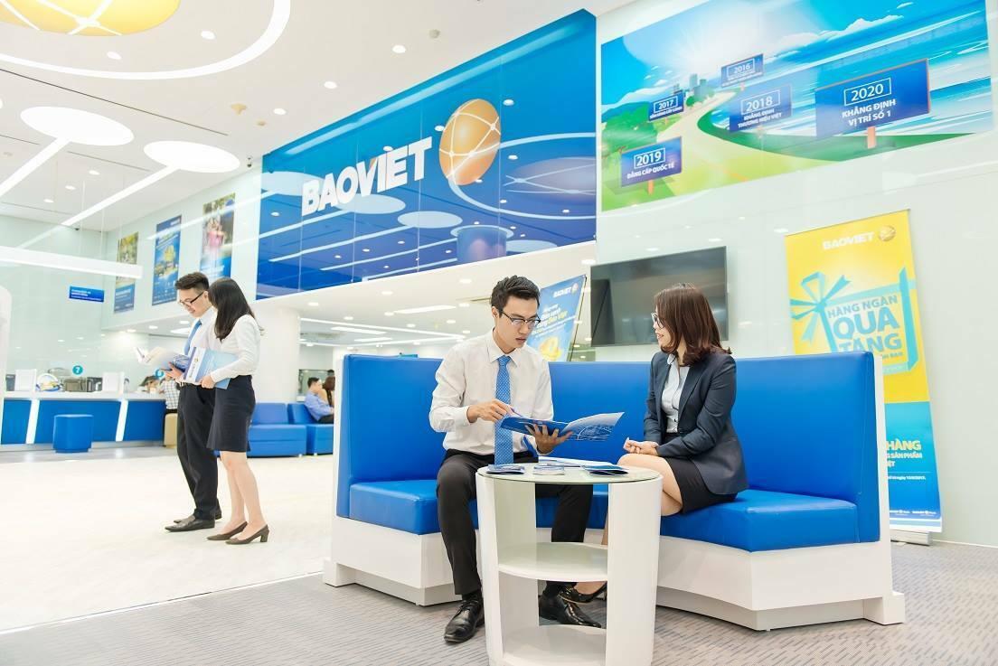 Phòng giao dịch tại trụ sở Bảo Việt.