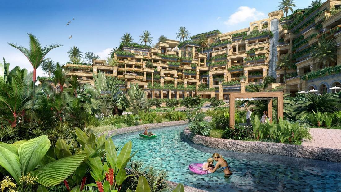 Tháng 5 vừa qua, một khách sạn mới mang thương hiệu MGallery đã được khởi công tại bãi biển Hồ Tràm thuộc tỉnh Bà Rịa - Vũng Tàu. Với tổng diện tích khoảng 4,3ha và quy mô 200 phòng, Hotel Ho Tram MGallery là một trong những tiện ích nổi bật nhất thuộc phân kỳ The Tropicana thuộc Tổ hợp Du lịch Nghỉ dưỡng Giải trí NovaWorld Ho Tram.Novaland - Nhà phát triển dự án đã chọn nguồn cảm hứng từ một trong những kỳ quan thế giới cổ đại - Vườn treo Babylon - để tạo nên Hotel Ho Tram Mgallery với phong cách kiến trúc cổ điển độc đáo. Cụm khách sạn được thiết kế như một khu vườn xanh mướt, lơ lửng giữa không trung, cộng hưởng hoàn hảo và tôn lên vẻ đẹp vốn có của hệ sinh thái rừng biển nguyên sơ Hồ Tràm.