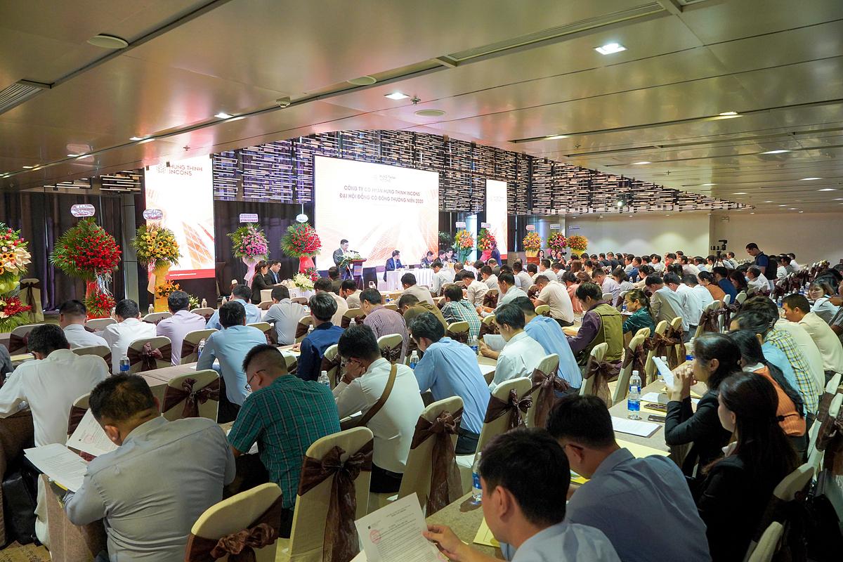 Hưng Thịnh Incons tổ chức đại hội cổ đông hôm 30/6 với 102 cổ đông tham dự, sở hữu và đại diện cho 90,4% tổng số cổ phần có quyền biểu quyết.