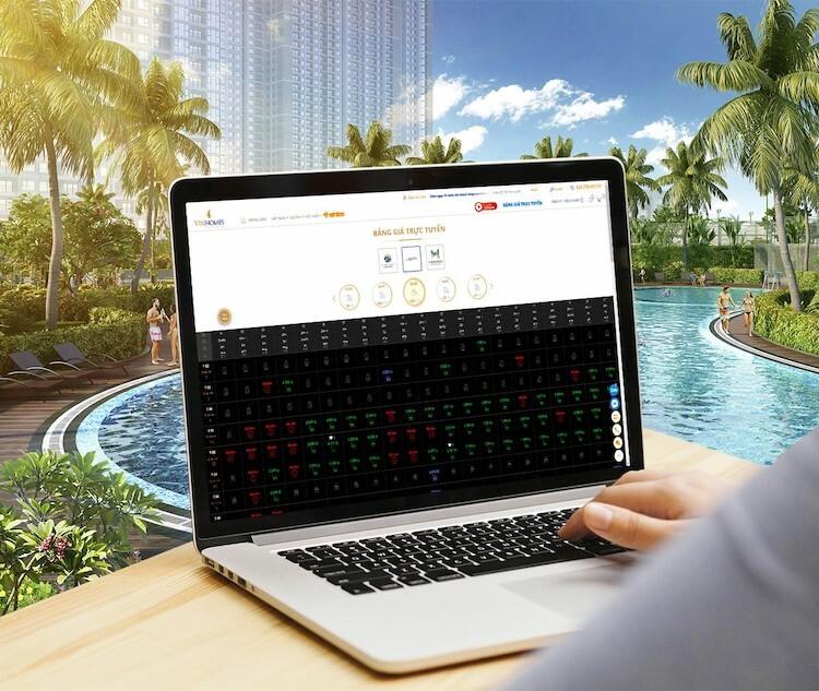 Người mua nhà có thể tìm hiểu, đặt mua với máy tính hoặc smartphone, không cần đến văn phòng giao dịch.