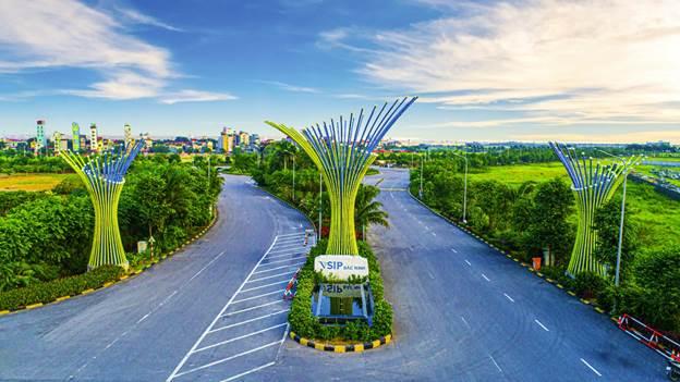 Cổng vào khu công nghiệp VSIP Bắc Ninh