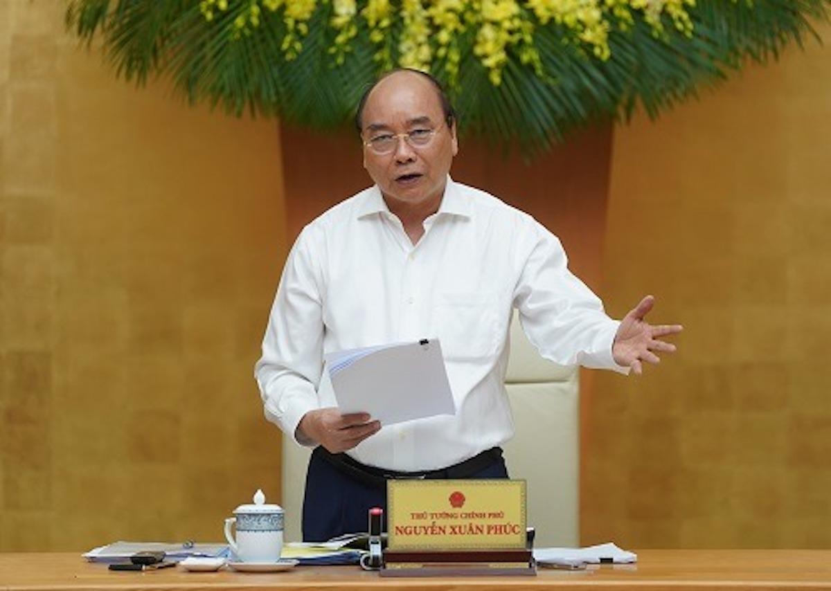 Thủ tướng Nguyễn Xuân Phúc chủ trì cuộc họp Ban chỉ đạo điều hành giá ngày 1/7. Ảnh: VGP
