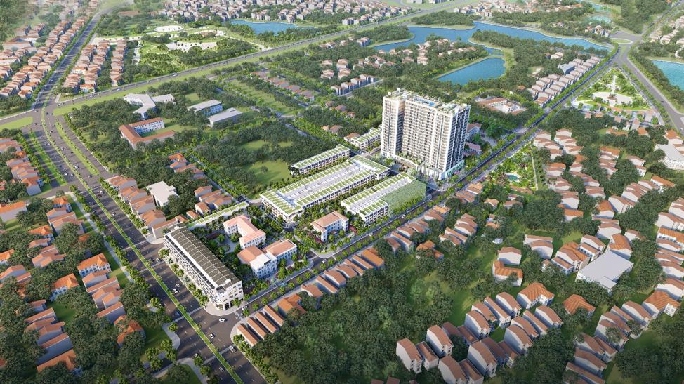 Phối cảnh La Fortuna – dự án tọa lạc ngay tại trung tâm thành phố Vĩnh Yên.