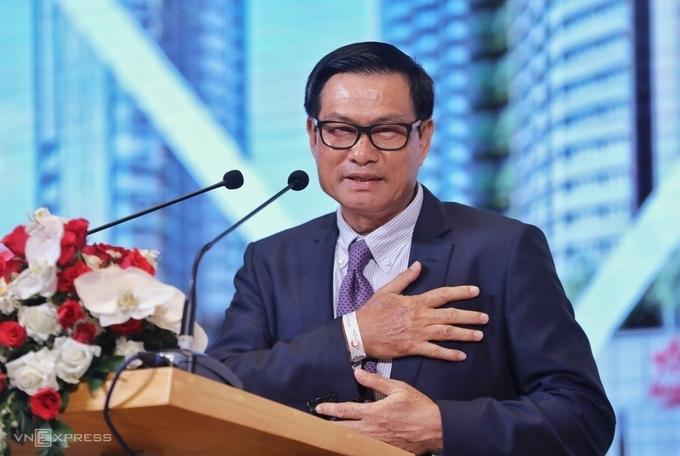 Ông Nguyễn Bá Dương tại phiên họp thường niên ngày 30/6. Ảnh: Quỳnh Trần.